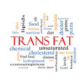 Trans Fat Word Cloud Concept Royalty Free Stock Photo
