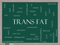 Trans fat word cloud concept on a blackboard with great terms such as grams diet unsaturated and more Royalty Free Stock Image