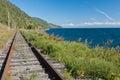Trans Siberian railway Royalty Free Stock Image
