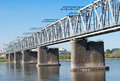Trans Siberian railway bridge Royalty Free Stock Images