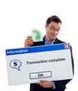 Transaction complete Stock Image