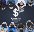 Transaction summary corporate accounting concept Royalty Free Stock Photos