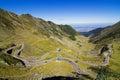 Transfagarasan the most famous road in romania breaking through mountain Stock Photos