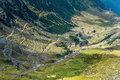 Transfagarasan road romania famous mountain winding crossing fagaras mountaines in Royalty Free Stock Images