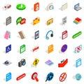 Transfer icons set, isometric style Royalty Free Stock Photo