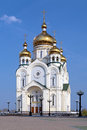 Transfiguration cathedral in khabarovsk the cathedral with height of meters is the tallest church in russian far east and third Stock Image