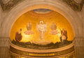 Transfiguration mosaic in the cathedral on mount tabor israel scene of biblical event of of jesus christ fresco church of galilee Royalty Free Stock Photography