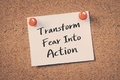 Transform fear into action Royalty Free Stock Photo