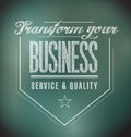 Transform your business seal message illustration design graphic Stock Photos
