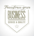 Transform your business seal message illustration design graphic Royalty Free Stock Photos