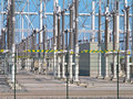 Transformation power station diagonal Royalty Free Stock Photos