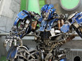 Transformer robot view of over model Royalty Free Stock Photos