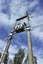 Transformer station in a little village near la spezia Stock Photos