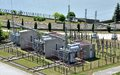 Transformer substation and electric power Royalty Free Stock Photo