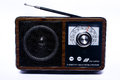 Transistor radio retro old vintage fm am Royalty Free Stock Images