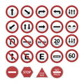Transit signals set of on a white background vector illustration Stock Images