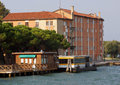 Transit stop municipal on the grand canal sacca fisola venice italy Royalty Free Stock Photography
