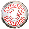 Transition word white button icon change process cycle on a or to illustrate or a for evolving or refreshing Royalty Free Stock Images