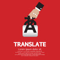Translate concept languages vector illustration Stock Images