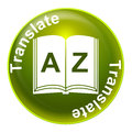 Translate sign shows convert to english and language representing translating Stock Photography