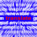 Translate word means converting to language meaning another Royalty Free Stock Image