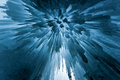 Translucent Blue Ice Castle Royalty Free Stock Photo