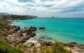 Translucent sea and rocky coastline of Corsica near Ile Rousse Royalty Free Stock Photo