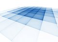 Translucent surface in a blue cage abstract checkered on white background Stock Photo