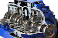 Transmission automotive gearbox with lots of details Stock Photography