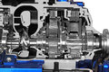 Transmission automotive gearbox with lots of details Stock Image