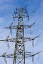 Transmission Line Pylon Stock Photo
