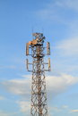 Transmitter for telecommunication internet connection and mobile signal Royalty Free Stock Image