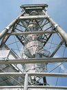 Transmitter tower construction Stock Photos