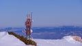 Transmitter tower Royalty Free Stock Photo