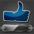 Transparency blue Like symbol Royalty Free Stock Photo