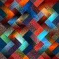 Transparency paysley on geometric background seamless pattern Stock Image