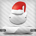 Transparency plates with santa claus hat Stock Photo