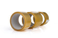 Transparent adhesive tapes on white background Royalty Free Stock Photo