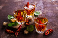 Transparent alcoholic drink Royalty Free Stock Photo