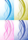 Transparent background with abstract wave collection clip art Stock Image