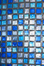 Transparent blue square texture with water drops Royalty Free Stock Photo