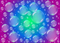 Transparent bubbles on a colored background Royalty Free Stock Photo