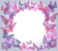 Transparent butterflies frame Stock Photos