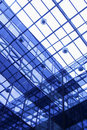 Transparent ceiling of office building Royalty Free Stock Image