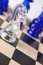 Transparent chess horse Royalty Free Stock Photo