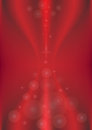 Transparent circles on a red background. Background Stock Photos
