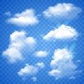 Transparent Clouds On Blue