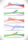 Transparent colorful web headers collection clip art Royalty Free Stock Photo