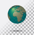 Transparent earth a globe seethrough vector with shadows Royalty Free Stock Photo