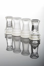 Transparent glass chess towers Royalty Free Stock Photo